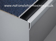 Anti Slip Step Edge Nosings Stair Nose Edging Profile for Carpet & Lino/Vinyl - 2.5m.