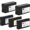 5 Pack - Remanufactured replacement for HP 950XL and 951XL series ink cartridges