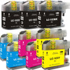 9 Pack - Premium compatible replacement ink cartridge replacement set for Brother LC103 series. Set includes 3 Black, 2 Cyan, 2 Magenta and 2 Yellow - High Yield