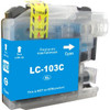 Premium compatible replacement Cyan ink cartridge for Brother LC103C - High Yield