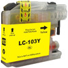 Premium compatible replacement Yellow ink cartridge for Brother LC103Y - High Yield