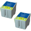 Twin Pack - Remanufactured replacement for Epson T020201 color ink cartridges
