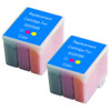 Twin Pack - Remanufactured replacement for Epson S020089 color ink cartridges