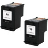 Twin Pack - Remanufactured replacement for HP 98 (C9364WN) black ink cartridges