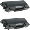 Twin Pack - Remanufactured replacement for Brother TN650 black laser toner cartridge
