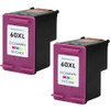 Twin Pack - Remanufactured replacement for HP 60XL (CB304AN) color ink cartridges
