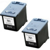 Twin Pack - Remanufactured replacement for HP 701 (CC635A) black ink cartridges
