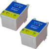 Twin Pack - Remanufactured replacement for Epson T018201 color ink cartridges