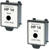 Twin Pack - Remanufactured replacement for HP 14 (C5011DN) black ink cartridge