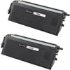 Twin Pack - Compatible replacement for Brother TN460 black laser toner cartridge