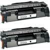 Twin Pack - Remanufactured replacement for HP 05A (CE505A) black laser toner cartridges