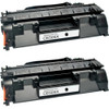 Twin Pack - Remanufactured replacement for HP 05X (CE505X) black laser toner cartridge