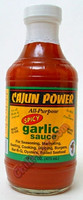 Cajun Power Spicy Garlic All Purpose Hot Sauce