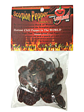 Scorpion Pepper Dried Chili Pods