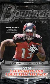 2014 Bowman Sterling Football Hobby Pack