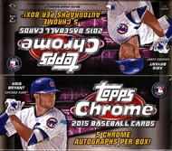 2015 Topps Chrome Baseball Jumbo Box