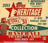 2015 Topps Heritage '51 Collection Baseball Hobby Box