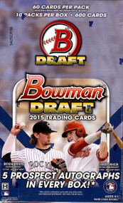 2015 Bowman Draft Picks & Prospects Baseball Super Jumbo Box