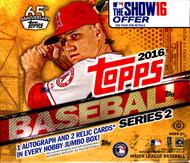 2016 Topps Series 2 Baseball Jumbo HTA Box