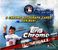 2016 Topps Chrome Baseball Jumbo HTA Box