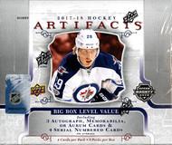 2017/18 Upper Deck Artifacts Hockey Hobby Box