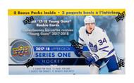 2017/18 Upper Deck Series 1 Hockey Blaster Box