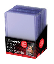 "Ultra Pro 3"" X 4"" Action Packed 55PT Toploader 25ct"