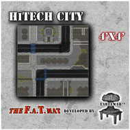 4x4 'HiTech City' F.A.T. Mat Gaming Mat