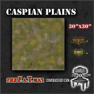 "30x30"" 'Caspian Plains' Privateer Press branded F.A.T. Mat Gaming Mat"