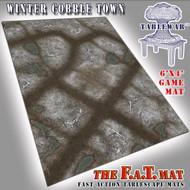 6x4 'Winter Cobble Town' F.A.T. Mat Gaming Mat