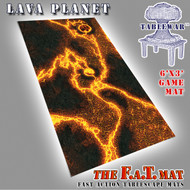 6x3 'Lava Planet' F.A.T. Mat Gaming Mat