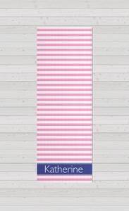 Yoga Mats - Pink Stripes