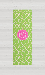 Yoga Mats - Apple Green Giraffe