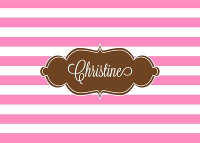 Folded Notes - Pink Stripes