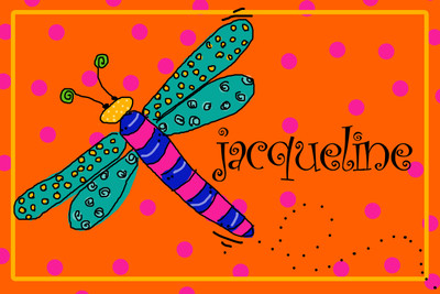 Copy of Placemat- Dragonfly