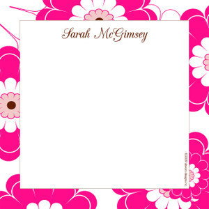 Scribble Square-Hot Pink Floral