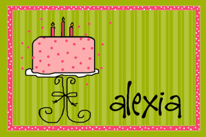 Placemat- Girly Birthday