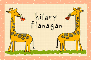 Placemat- Geoffrey the Giraffe