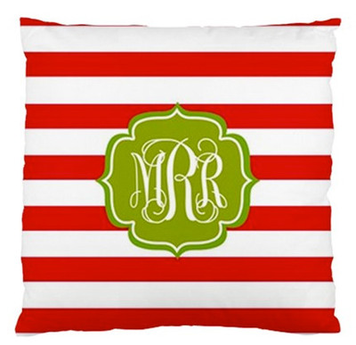 Pillow-Holiday Stripe