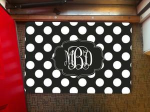 Doormat- BW Polka Dot