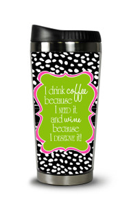 Personalized Travel Tumbler- Coffee Wine