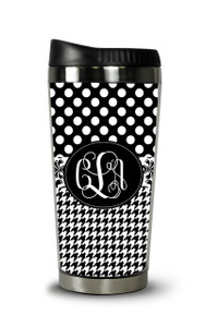 Personalized Travel Tumbler- BW Collage