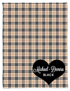 Blanket- Plaid-Khaki Black Heart