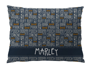 Dog Bed-All About Dogs-Navy