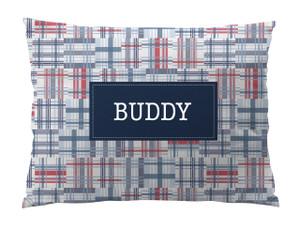 Dog Bed-American Madras Plaid