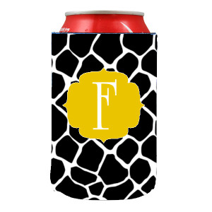 Can Koozie-Black Giraffe