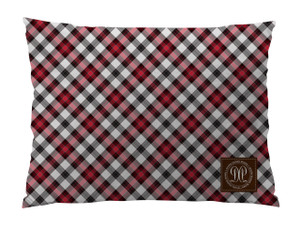 Dog Bed -JP-Cranberry Coco Plaid