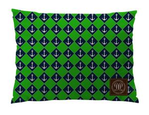 Dog Bed -JP-Navy Green Nautical