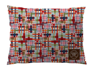 Dog Bed -JP-Madras Plaid