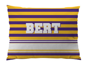 Dog Bed-PURPLE and GOLD RUGBY